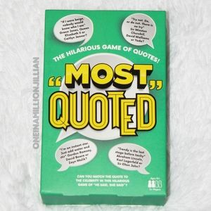 GAME - Most Quoted - The Hilarious Game of Quotes